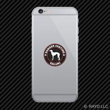 Danger Farting Saluki Cell Phone Sticker Mobile Die Cut