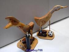 ARTE POPOLARE vintage, due SPORT anatre, anatre in legno