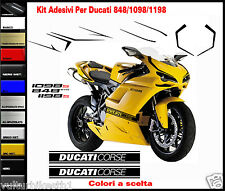 adesivi per ducati 848 1098 1098  decals stickers look 1199 Panigale R