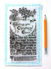 """Clear Stamps Lot (4""""x7"""") Wish Christmas Greeting Saying Vintage FLONZ 832 Rubber"""