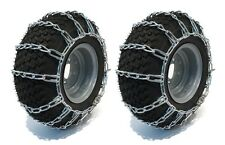 New PAIR 2 Link TIRE CHAINS 18x6.50x8 for John Deere Rider M77360, M93530 Tires
