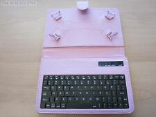 "Pink Bluetooth Keyboard Carry Case & Stand for BlackBerry PlayBook 7"" Tablet PC"