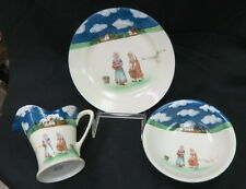 RARE Royal Bayreuth 3 piece mush set / under plate bowl & milk pitcher / marked