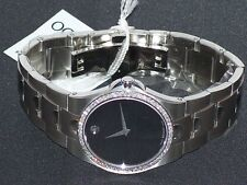 New Men's Movado Black Luno 0605556 0.93 ct.aprx.custom set real  Diamond Watch