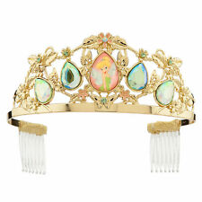 Disney Store Tinker Bell Metal Tiara Costume Crown Girls Gold Jewel Headband NEW