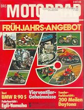 Motorrad 6 75 BMW R 90 S Egli TZ 350 John Player Norton 1975 Deutschland Schweiz