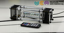 IV-18 VFD Nixie Tube Clock assembled.Full funcs.Alloy shell.IR ctl.Free Shiping