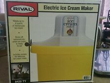Rival 4qt Ice Cream Maker Yellow Bucket