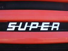 SUPER Sign Decoration For SCANIA All Series Made Of Polished Stainless Steel