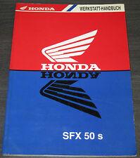 Werkstatthandbuch Honda Motorroller SFX 50 S Motor Roller Reparaturanleitung!