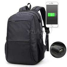 External USB Charge Computer Bag Waterproof 15/17 Inch Laptop Notebook Backpack