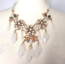 H&M Necklace Statement Multi-Color Rhinestones Fashion 18 inches