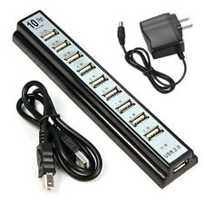 Power Adapter + 10 Port Hi-Speed USB 2.0 Hub for PC Laptop Computer Tide New
