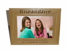 Grandchildren Wooden Photo Frame 8x6 - Personalise this frame - Free Engraving