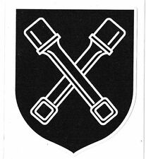 DIRLEWANGER 36TH SS PANZER DIVISION LAMINATED VINYL STICKER 90MM HIGH