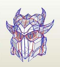 Skyrim Daedric cosplay helmet new version pepakura paper model kit