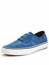 MENS VANS AUTHENTIC DECON SUEDE TRAINERS. BLUE SIZE 10.