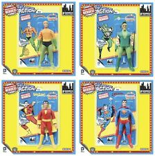 "DC SUPER POWERS ""fist fighter"" Figures Series 1 Retro Mego Set of 4 MOC! AQUAMAN"
