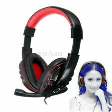 3.5mm Stereo Gaming Headset Game Headphone with Mic for PC Computer Laptop NEW