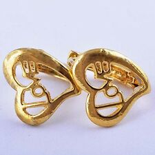Delightful 9K Real Gold Filled Love Hoop Earrings Womens Girls free shipping