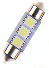 1 x Cool White 36MM 3 LED 5050 SMD Festoon Dome Car Lights Interior Lamp bulb