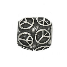 AUTHENTIC ZABLE STERLING SILVER PEACE TALKING BEAD