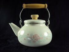 Corelle English Breakfast Metal Enamal Teapot Tea Pot Kettle Lindoware B3