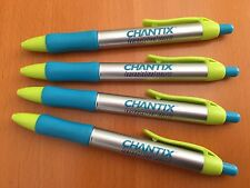 SALE! 4 CHANTIX Drug Rep Pens in Bright & Fun Silver/Blue/Neon Colors