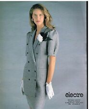Publicité Advertising 1988 Pret à porter vetements femme tailleur Electre