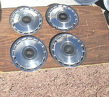 """Vintage 1984-85 Ford Tempo 13"""" Hubcaps Hub Cap Set Of 4 Very Good Condition"""