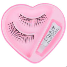 2 Pairs Soft Natural Cross Handmade Eye Lashes Makeup Extension False Eyelashes