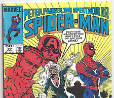 the Spectacular Spider-Man #89 with Black Cat from Apr. 1986 in Fine+ con. NS