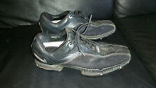 NIKE ZOOM TIGER WOODS COLLECTION TRACTION AT CONTACT BLACK LEATHER GOLF SHOES 9