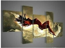 5PC Huge Abstract Art Oil painting Wall Decor Canvas Hand-painted (No Frame)