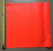 6 Safety Flag SF 16 16Inch  Vinyl Safety Flags, Red/Orange Traffic Six Flags