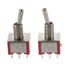 2 Pcs ON/ON 2 Position Double Pole Double Throw Toggle Switch N3