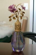 Vintage Devilbiss Type West Germany Perfume Bottle Atomizer Purple Flowers