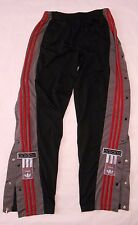 VTG ADIDAS THE BRAND WITH 3 STRIPES TRACK WARM UP PANTS TEAR AWAY BUTTON SIDE XL
