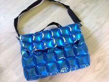 Umhänge-Tasche zum Aufblasen - blau - neuwertig