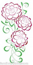 Art Deco Camellias 10 Machine Embroidery Designs CD in 4 sizes Satin Outline