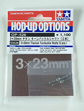 Tamiya 53526 3x23mm Titanium Turnbuckle Shafts (2 Pcs) NIP