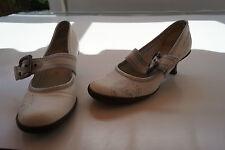 s.oliver Damen Sommer Schuhe Pumps Sandalen Gr.37 weiss mit Absatz TOP #54