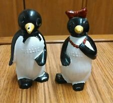 Willie & Millie Penguins Kool Cigarettes Salt Pepper Shaker Set, F&F, OOPS!