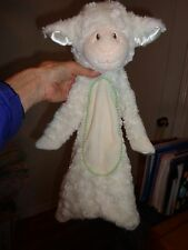 "Douglas Baby Lamb Sheep Plush Ivory Cream 17"" Flat Floppy 1455 Blanket Toy"