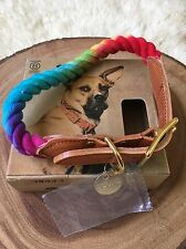 Found My Animal Rainbow Prismatic ROPE CAT & DOG COLLAR (Large) New In Box *