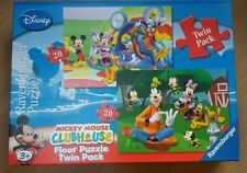 Menta fregatura in scatola 2 x Disney Mickey Mouse Clubhouse Floor Puzzle Puzzle 2 x 20pc