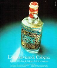 PUBLICITE ADVERTISING 0217  1978  Eau de Cologne 4711 Kolisch wasser