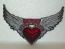 Heart Breaker WINGED HEART Sew On Patch MOTORCYCLE BIKER Embroidered GIRL MAMA