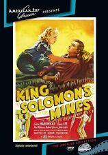 King Solomon's Mines (Cedric Hardwicke) - Region Free DVD - Sealed