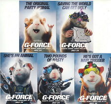 G-FORCE MOVIE 2009 GADGETT, GIZMOS & GUINEA PIGS DISNEY COMPLETE PROMO CARD SET